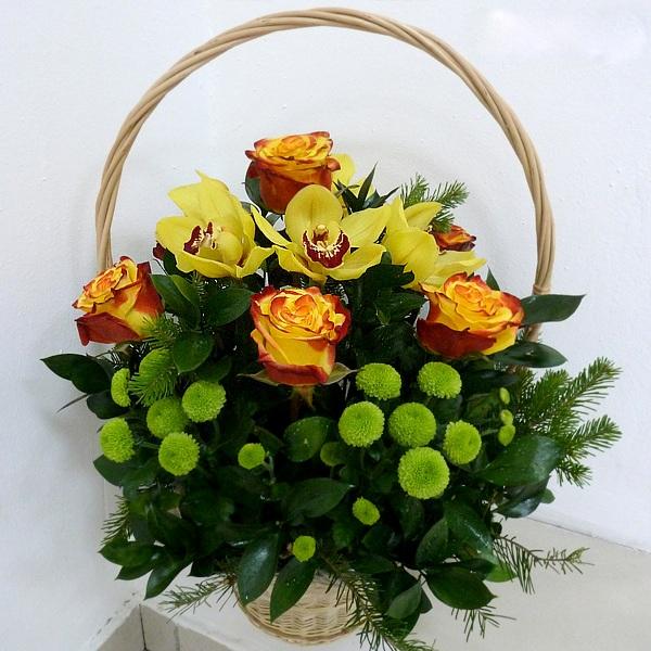 Корзинки для живых цветов своими руками 445